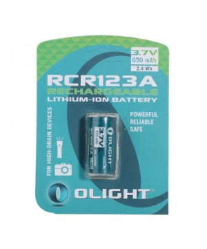 Battery Olight RCR123A Li-Ion 650mAh