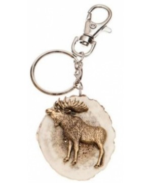 Keychain with moose decoration
