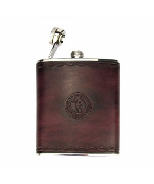 Flask With Natural Leather Case