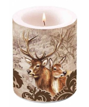 Candle with hunting picture