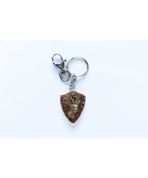 Keychain with roe-deer decoration