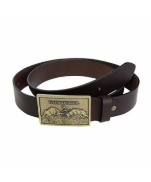 Leather Belt With Deer Decoration