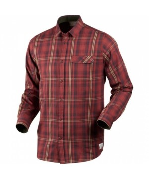 Gibson Russet Shirt in Brown Check