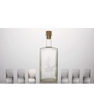 Bottle 500ml + 6 pcs glasses 35 ml