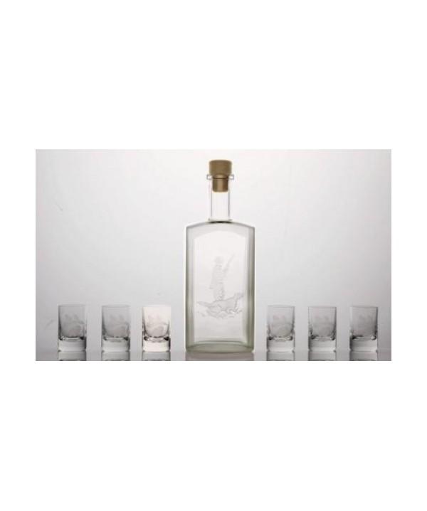 Bottle 500ml + 6 pcs glasses 35 ml