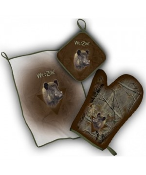 Kitchen Set with Wild Boar Print (brown)