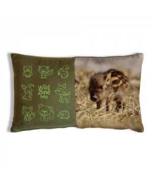 Cushion with Baby Boar Print (35x20 cm)