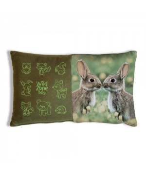 Cushion with Rabbit Print (35x20 cm)