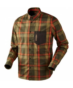 Amlet Shirt in Forest Green Check