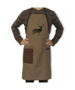 Apron with Deer Motif (brown)