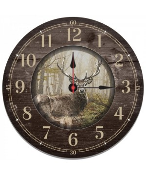 Wall Clock with Deer Motif