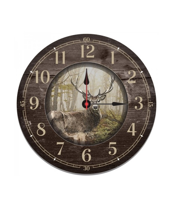 Wall Clock with Deer Motif
