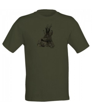 T-Shirt with Roe Deer Print