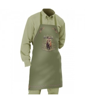 Apron with Deer Motif (green)