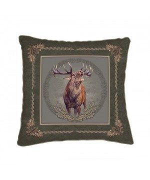 Cushion with Roaring Deer Motif (42x42)