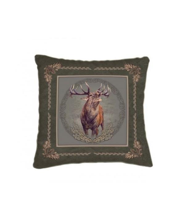 Cushion with Roaring Deer Motif (42x42)