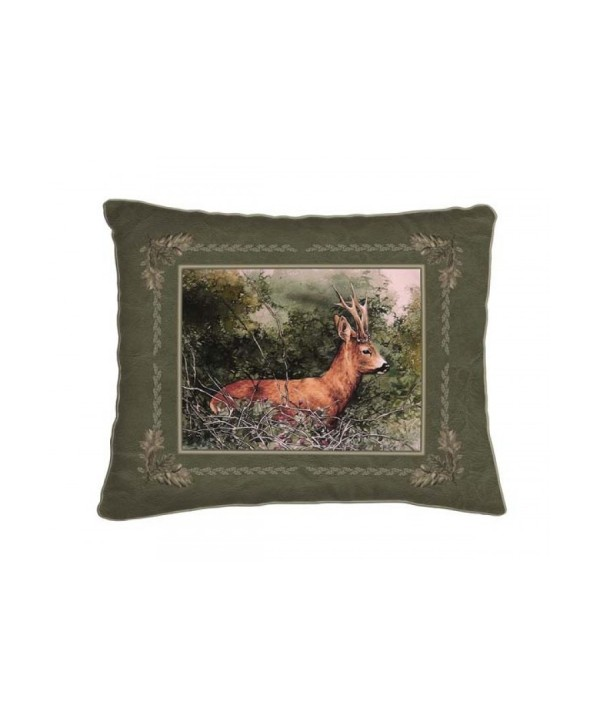 Cushion with Standing Roe Deer Motif (42x42)