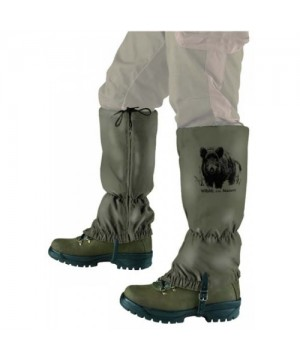Gaiters with Boar Motif (Green, Size L)