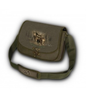 Shoulder Bag with Deer Print (green)