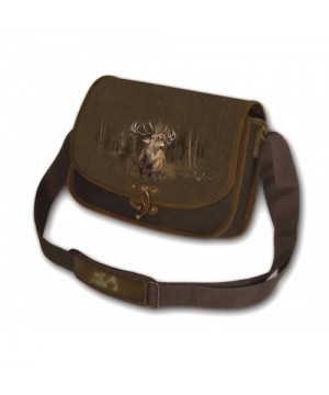 Shoulder Bag with Deer Print (brown)