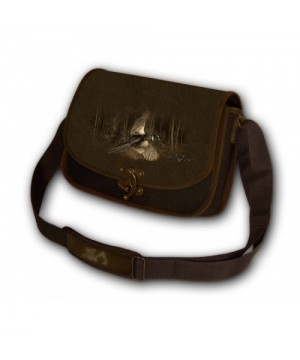 Shoulder Bag with Pheasant Print (brown)