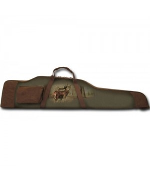 Gun Case with Deer Print (green, 128x7x30)