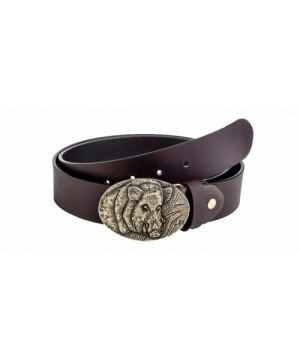 "Leather Belt ""Boar"""