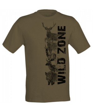 T-Shirt with Wild Animal Print (Light Green)