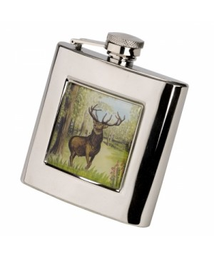 Flask AKAH With Red Stag decoration (175 ml)