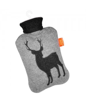 Hot water bottle in a case