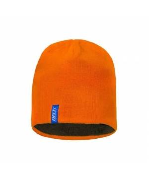 Reversible beanie hat (Orange/green)