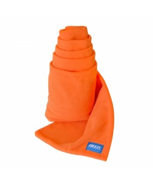 Orange Fleece Scarf Delta