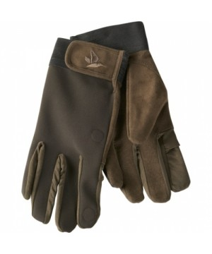WINSTER SOFTSHELL GLOVES (Black coffee)