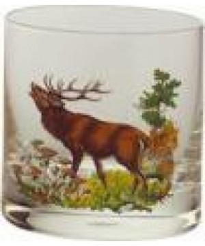 Whisky Glass Set with Wild Animal Motifs (6pcs.) 250ml