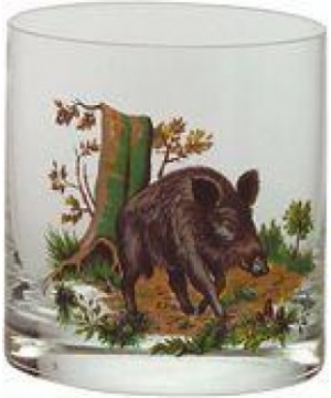 Whisky Glass Set with Wild Animal Motifs (6pcs.) 250ml