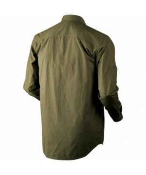 Trekking solid Shirt in Duffel green