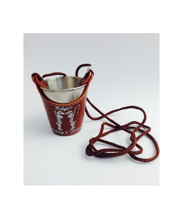 Shot glass with a neck strap