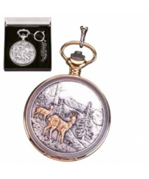 Silver/gold plated pocket watch