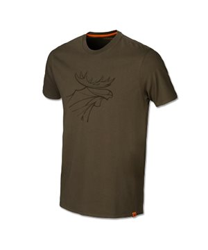 Harkila graphic t-shirt 2-pack (Willow green/Slate brown)