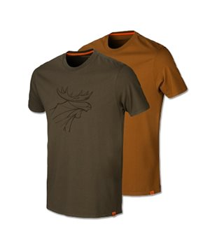 Harkila graphic t-shirt 2-pack (Willow green/Rustique clay)