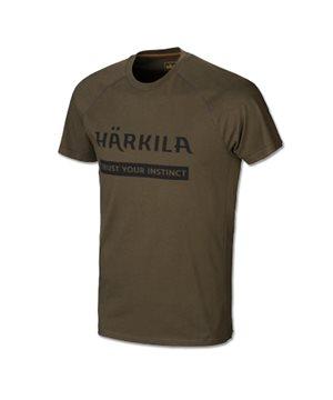 Harkila logo t-shirt 2-pack (Willow green/Slate brown)