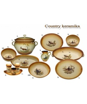 24 pcs. Dinner Set with Wild Animal Motifs