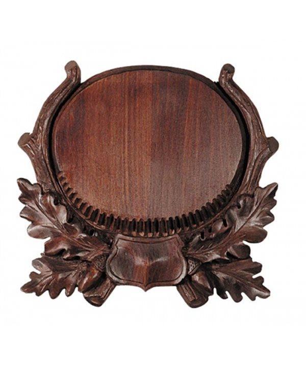 Wooden Trophy Board for Boar Tusks
