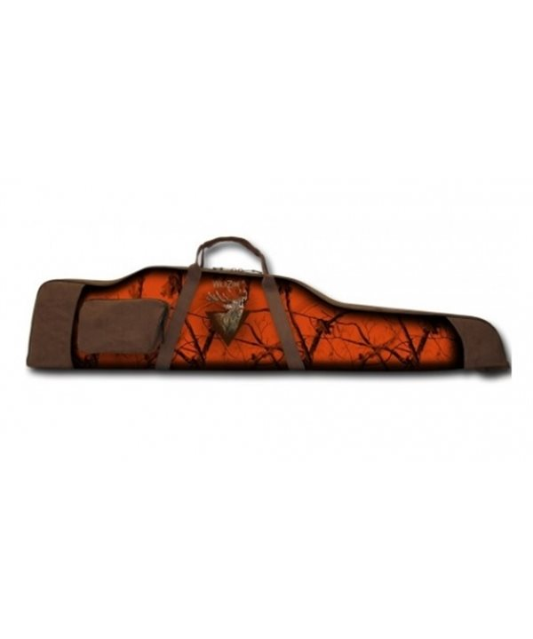 Gun case with deer decoration and side pocket (128x7x30)