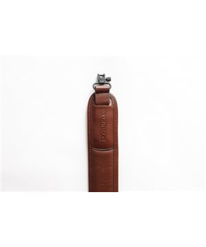 Leather Gun Sling with integrated Catridge Holder