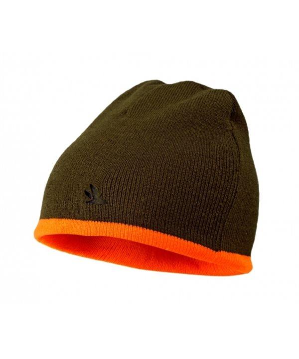 Seeland Ian Reversible beanie (Hi-vis orange/Pine green)