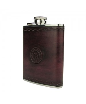 Flask Tourbon With Genuine Leather